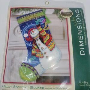 Dimensions Happy Snowman Stocking Needlepoint Kit